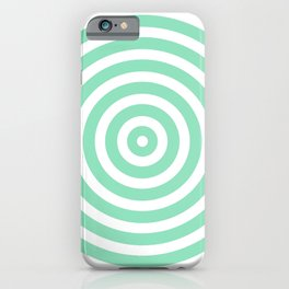 Circles (Mint & White Pattern) iPhone Case