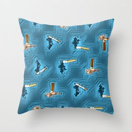 No Smoking Day. Throw Pillow