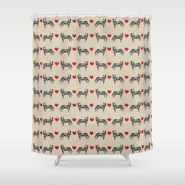 Australian Cattle Dog blue heeler hearts love dog breed gifts for cattle dog owners Shower Curtain