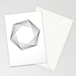 crazy hexagons Stationery Cards