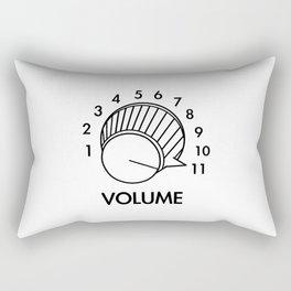 Volume Knob Up To 11 Spinal Tap Inspired Funny Guitar Rectangular Pillow