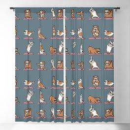 English Bulldog Yoga Blackout Curtain