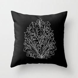 flame line art - black Throw Pillow