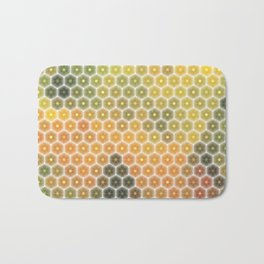 Abstract mosaic geometric colorful background Bath Mat