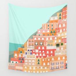 View over the Amalfi Coast, Positano, Italy Wall Tapestry