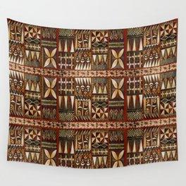 Hawaiian Shark Tooth Tapa Wall Tapestry