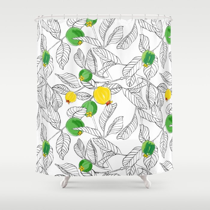 Summertime Guavas Shower Curtain