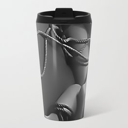 Being tangled is a good thing - cartoon erotic kink, sexy naked body, round butt BDSM, bound girl Travel Mug