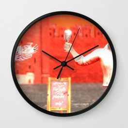 SquaRed: Champagne Wall Clock