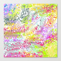confetti Canvas Prints featuring Confetti by Abstract Designs