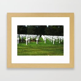 Normandy Cemetery Framed Art Print