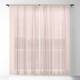Blush Pink Millennial Pink Rose Gold Solid Color Sheer Curtain