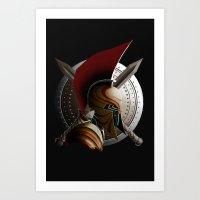 warrior Art Prints featuring Warrior by Det Tidkun