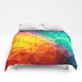 Abstract Multi Color Cubizm Painting Comforters