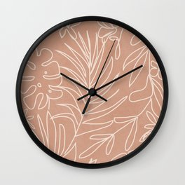 Engraved Tropical Line Wall Clock