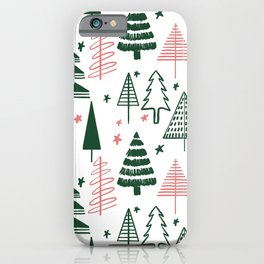 CHRISTMAS TREE - GREEN iPhone Case