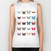 butterflies Biker Tanks featuring Butterflies by Dorothy Leigh