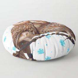 Winter Owls Floor Pillow