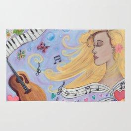 She Dreams in Music Rug
