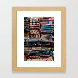 Book nook, Venice Italy Framed Art Print