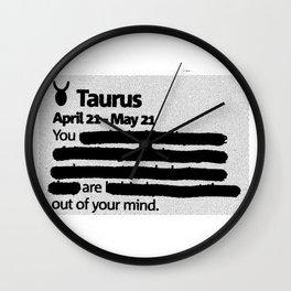 Taurus 1 Wall Clock