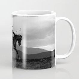 Black and White Cowboy Being Bucked Off Coffee Mug
