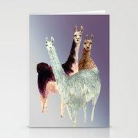 llama Stationery Cards featuring Llama by Big AL