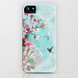 FLORAL HUMMINGBIRD iPhone Case