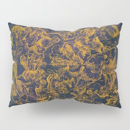 Vintage Constellations & Astrological Signs | Purple Galaxy Pillow Sham