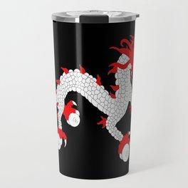 Dragon-A variation on the flag of Bhutan. Travel Mug
