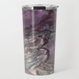 Shimmery Lavender Abalone Mother of Pearl Travel Mug