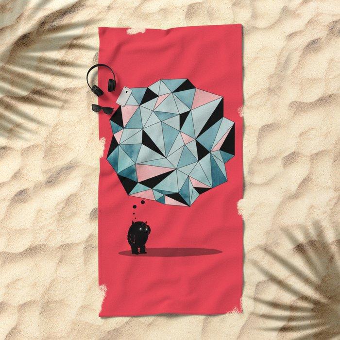 The Pondering Beach Towel