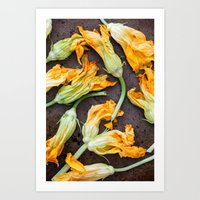 Zucchini Blossoms Art Print