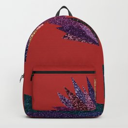 Purple flower with gold streak (red) Backpack