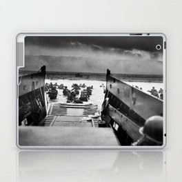 Into the Jaws of Death - D-day Vintage Photo by Robert F. Sargent Laptop & iPad Skin