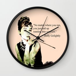 MISS GLOLIGHTLY - Breakfast at Tiffany´s - QUOTE Wall Clock