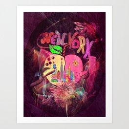 New York Popart by Nico Bielow Art Print