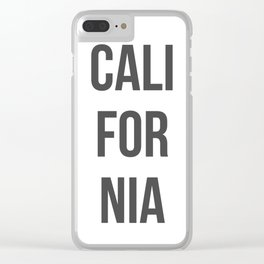 California in Gray Clear iPhone Case