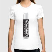 lesbian T-shirts featuring CHAPSTICK LESBIAN by Studio 566 / Penny Collins