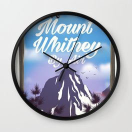 Mount Whitney vintage Travel poster Wall Clock