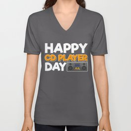 Happy CD Player Day Unisex V-Neck