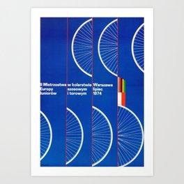 Vintage 1974 Polish Cycling  poster Art Print