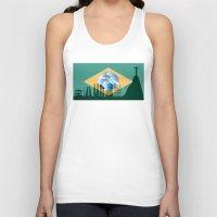 rio de janeiro Tank Tops featuring Rio de Janeiro skyline by siloto