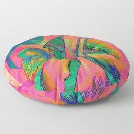Psychedelic sketch Floor Pillow