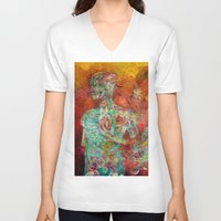 biology V-neck T-shirts featuring Synthetic Biology by Lennon Michalski