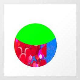 SexyPlexi dots  colourful moon  Art Print