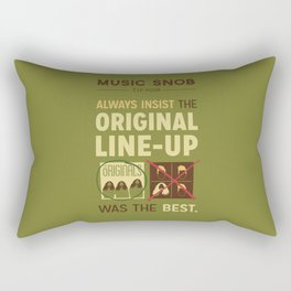 Original Line-up — Music Snob Tip #098 Rectangular Pillow