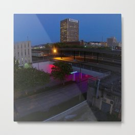 Light Rails Metal Print