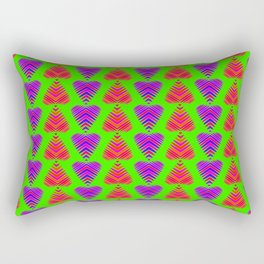 Pattern of blackberry hearts and iridescent strawberry strips. Rectangular Pillow
