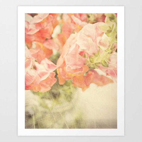 Peach bunch Art Print
